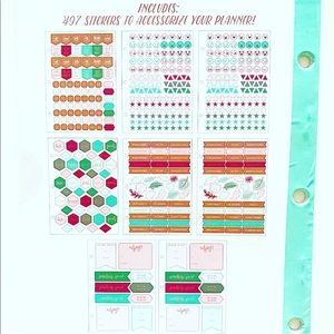 Target Other - Target Clear Planner Binder Sticker Book Green